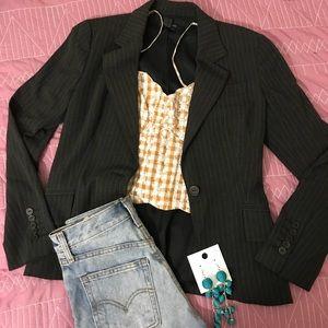 Zara pinstripe fitted blazer